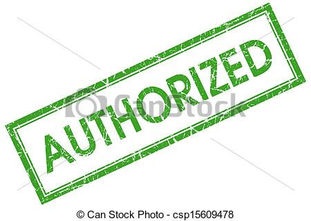 Stock Illustrations of authorized green square stamp csp15609478.