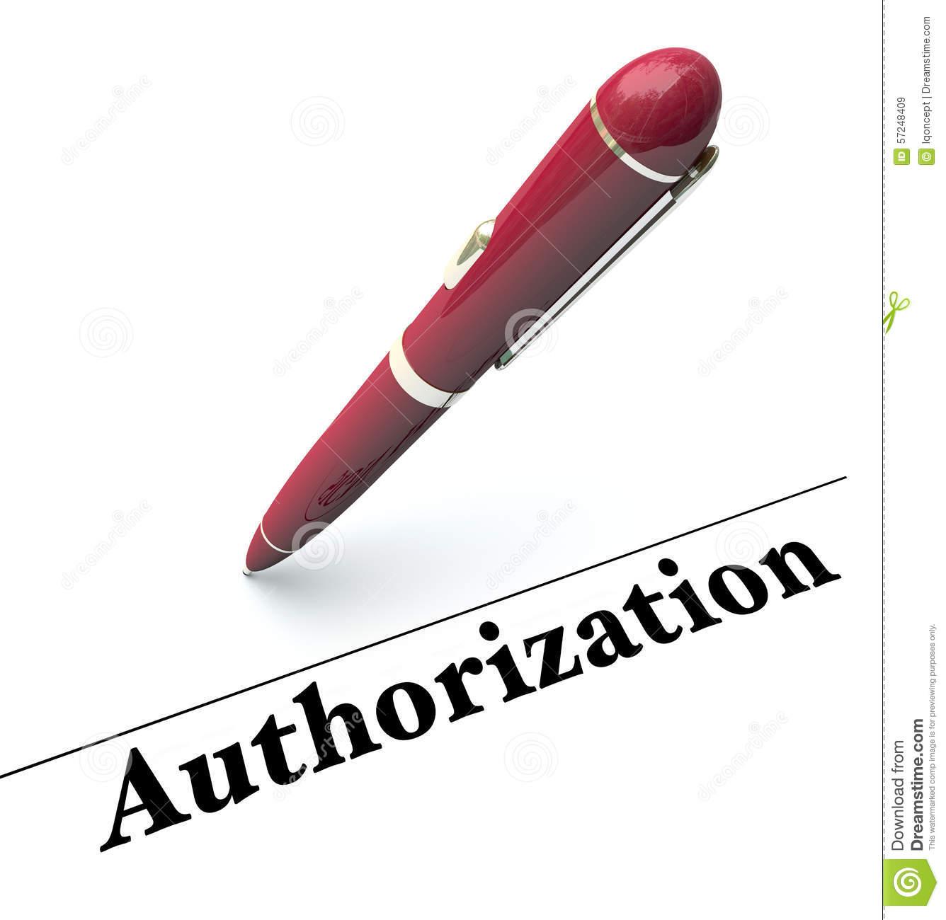 Authorize clipart.