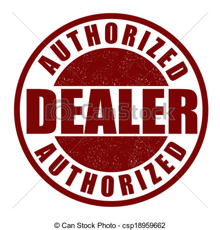Clip Art Vector of Authorized dealer stamp.