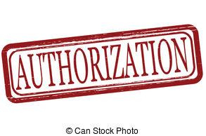 Authorisation clipart.