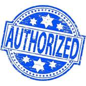 Authorized Stamp Clip Art.