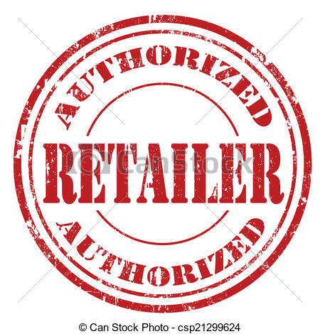 Vector Illustration of Authorized Retailer.