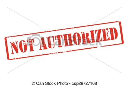 Clip Art Vector of Not authorized.