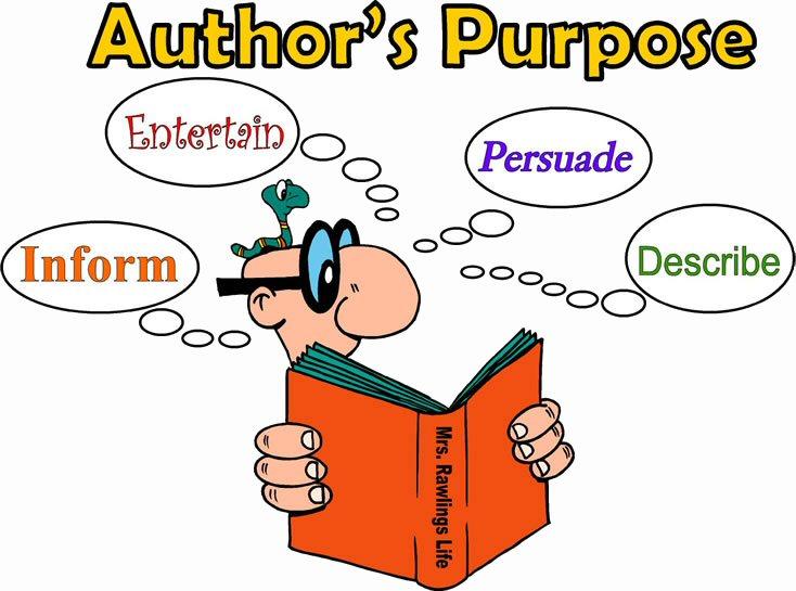 Authors purpose clipart.