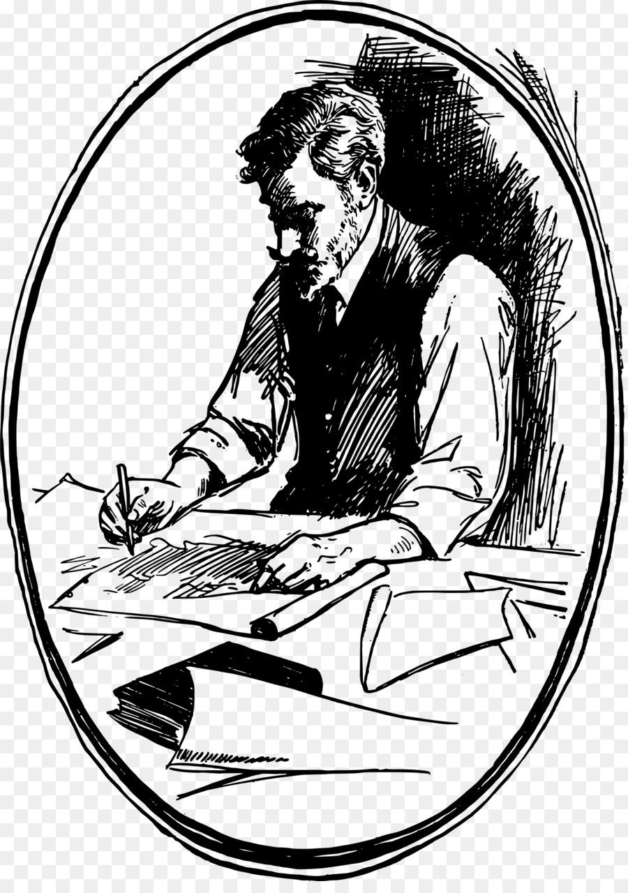 Writing Cartoon clipart.