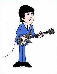 John Lennon Cartoon Image.