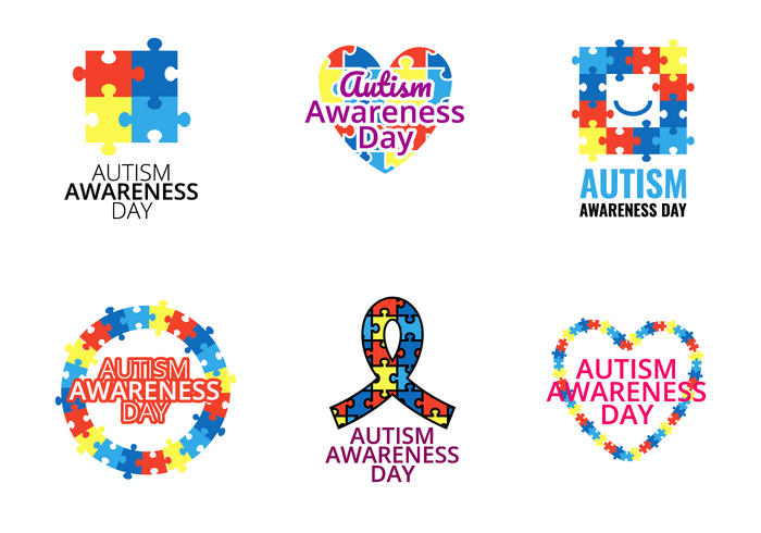 Autism Awareness Day Vector.