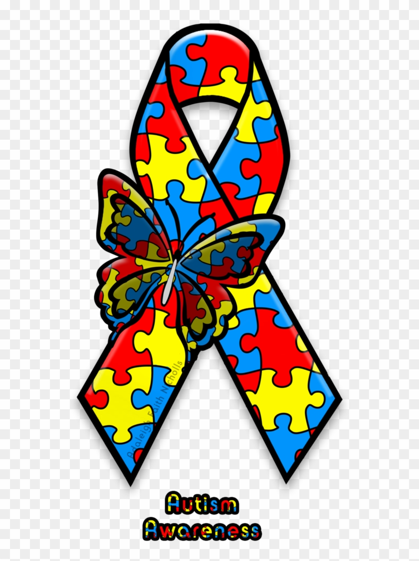 Autism Awareness Ribbon By Adaleighfaith.