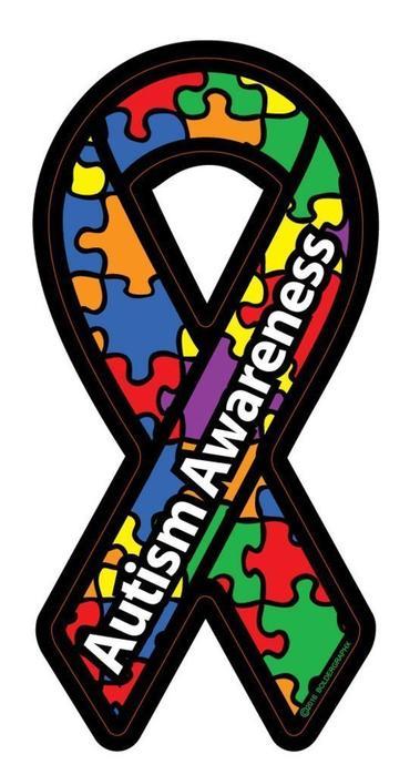 Autism Awareness Ribbon Love Car Home Decal Sticker.
