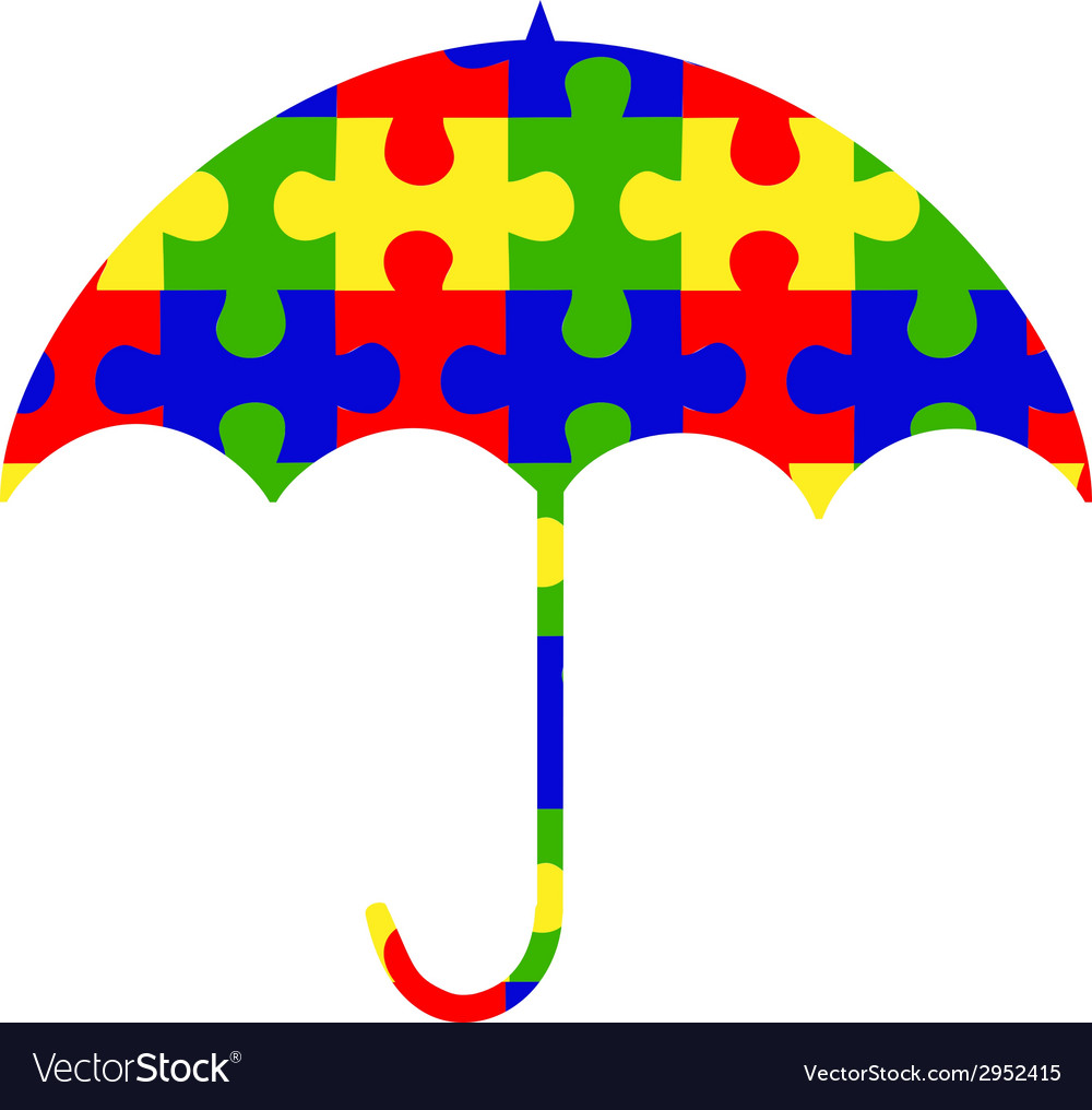 Autism umbrella clip.