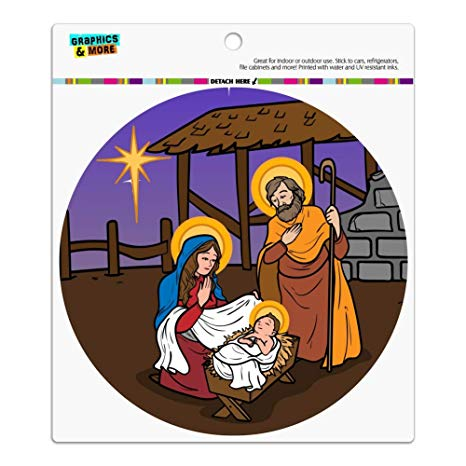Amazon.com: GRAPHICS & MORE Nativity Scene Baby Jesus Mary.