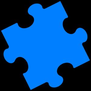 Blue Puzzle Piece clip art.