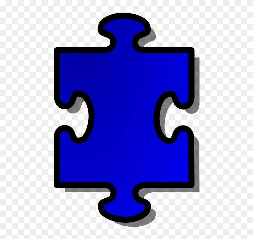 Free Vector Jigsaw Blue Puzzle Piece Clip Art.