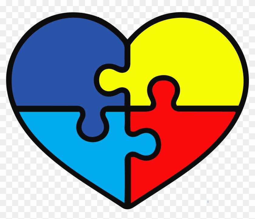 Autism Heart Puzzle Pieces, HD Png Download.