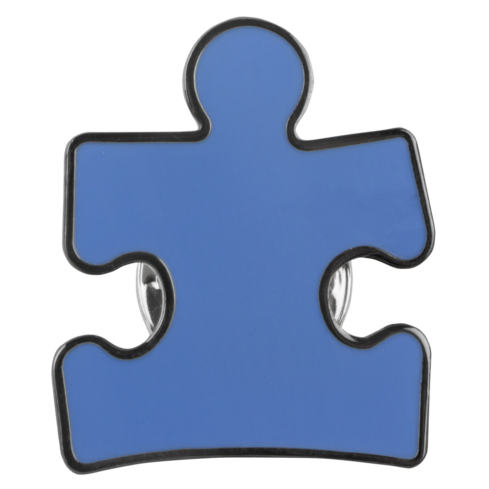 Blue Puzzle Piece Lapel Pin.