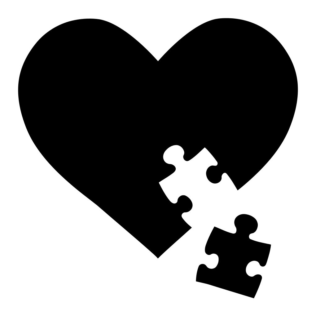 Autism Puzzle Piece Heart Decal.