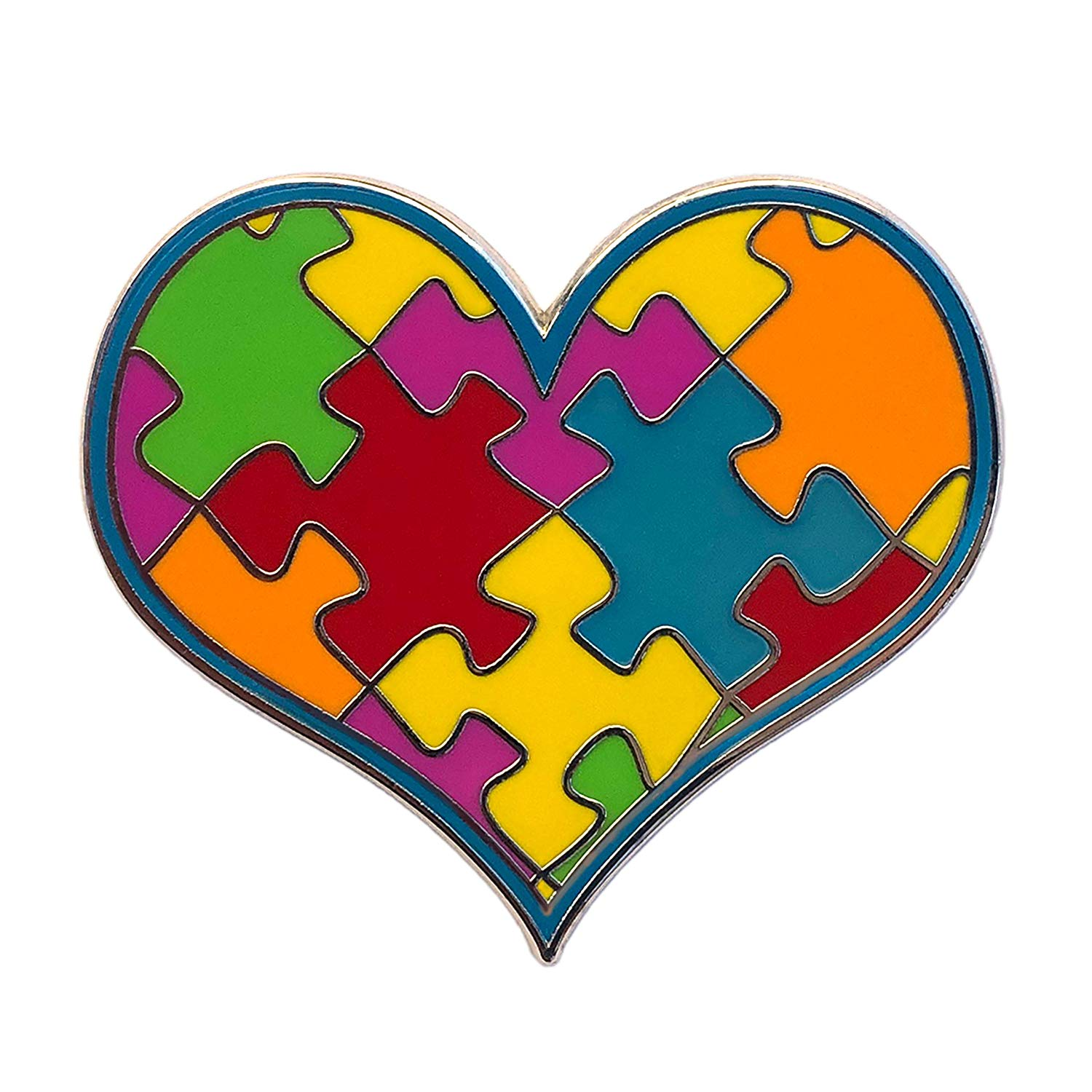 ILMS Autism Awareness Pin. 1.