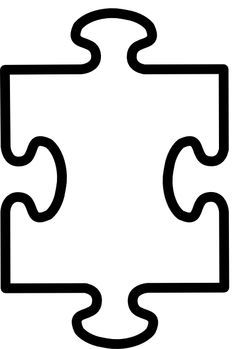 Printable Puzzle Pieces Template.
