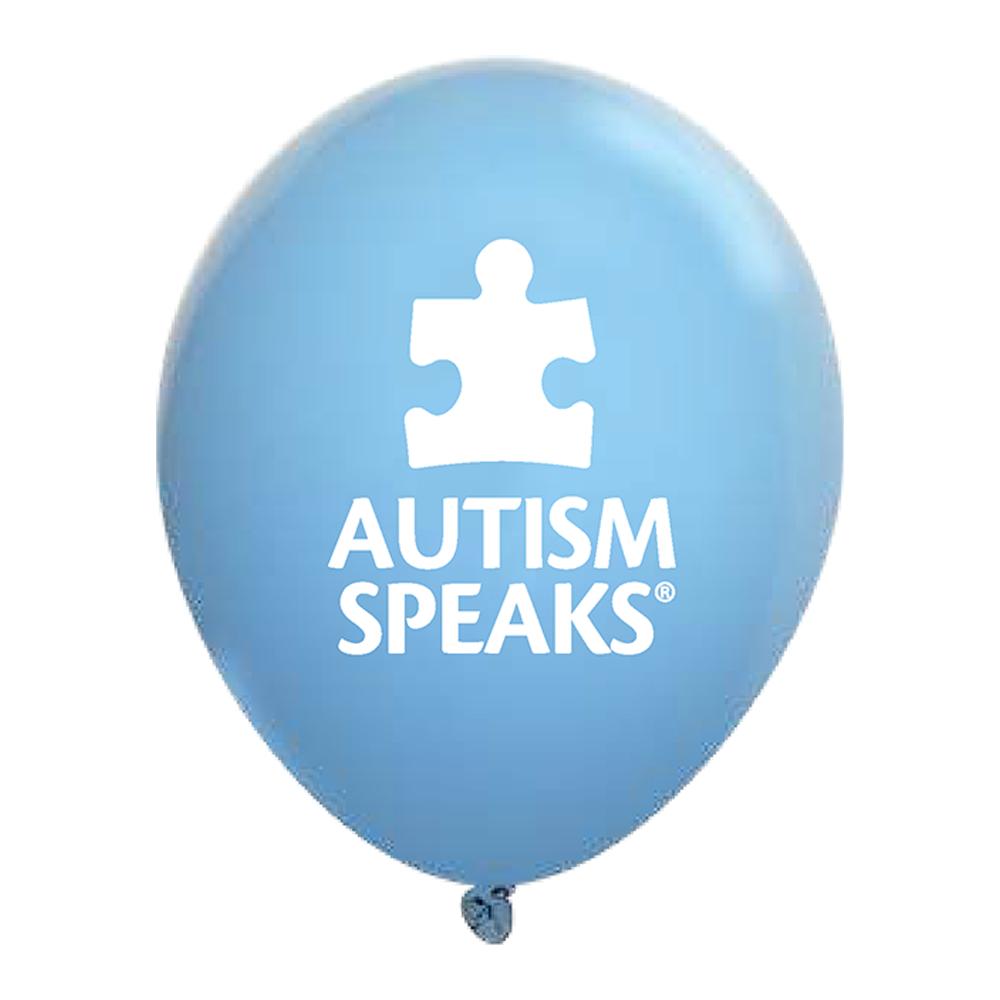 Autism Speaks Blue Balloons.