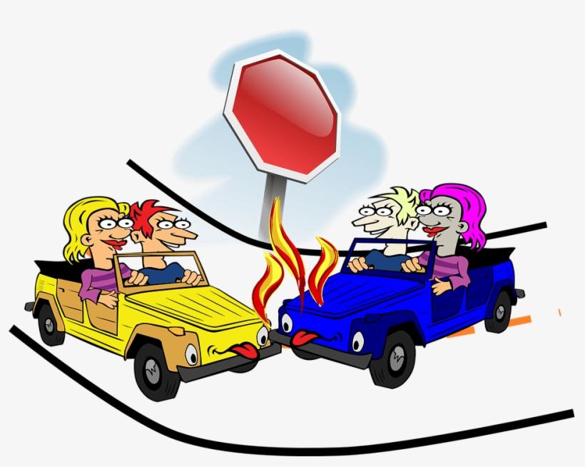 Cartoon Car Accident Free Image.