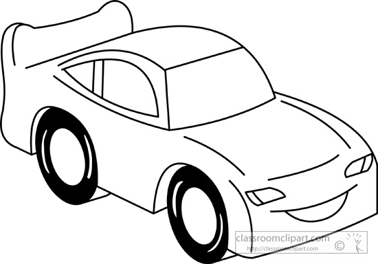 334 Car Black And White free clipart.