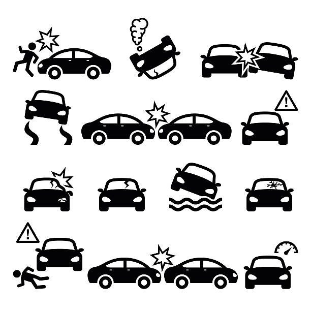 Best Car Accident Illustrations, Royalty.