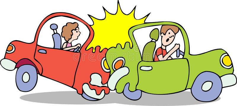 Car Accident Cartoon Illustration Stock Illustration.
