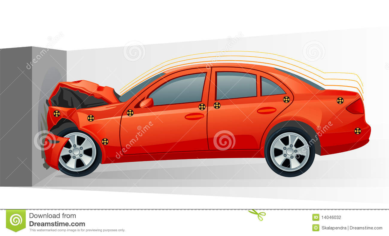 Crash of car stock vector. Illustration of auto, deformation.
