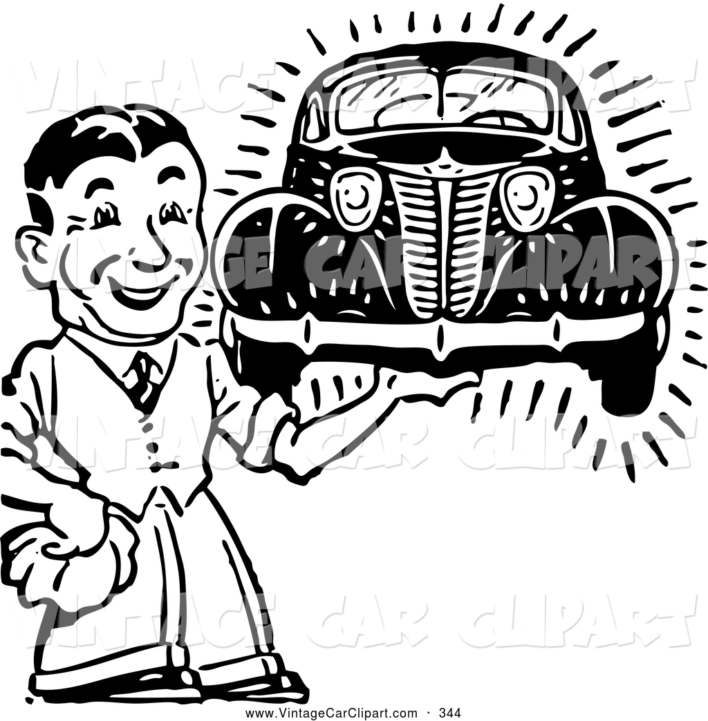 Car detailing clipart black and white.
