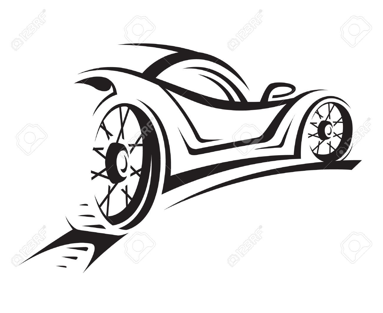 Race car silhouette clipart.