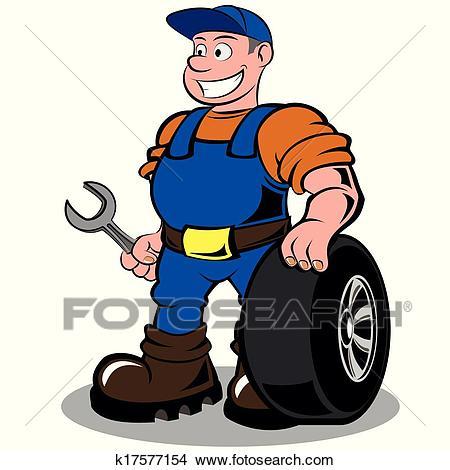 Auto mechanic Clipart.