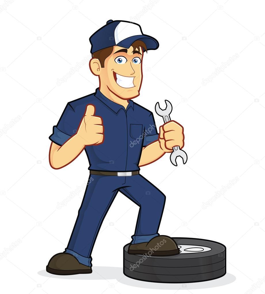 Clipart: auto mechanic.