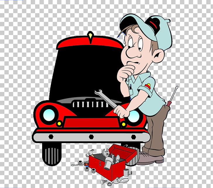 Cartoon Auto mechanic, Car repair man PNG clipart.