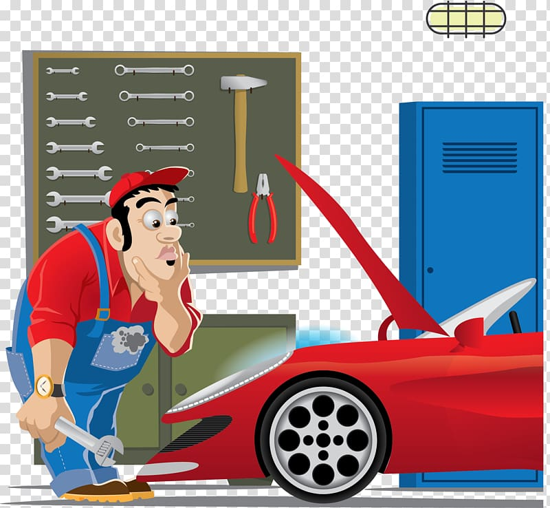 Auto mechanic Car , car repair transparent background PNG.