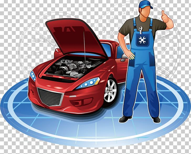 Car Automobile Repair Shop Motor Vehicle Service Auto Mechanic PNG.