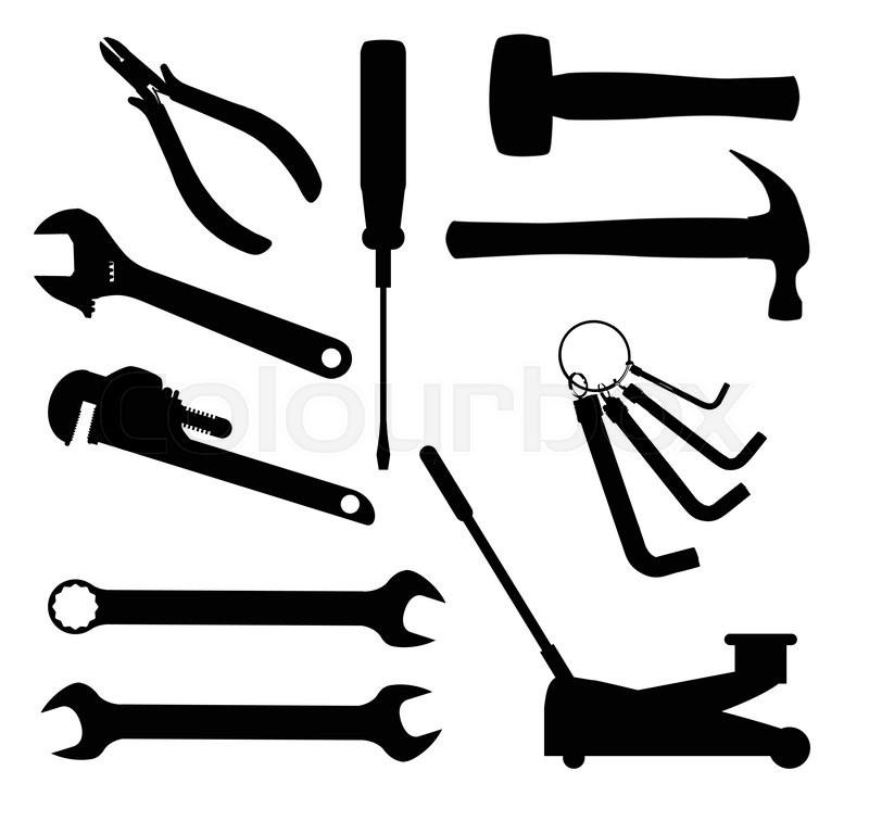 Car Mechanic Tools Clipart.