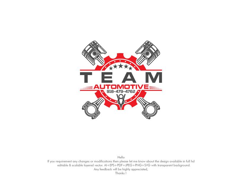 Bold, Modern, Automotive Logo Design for Team Automotive 918.