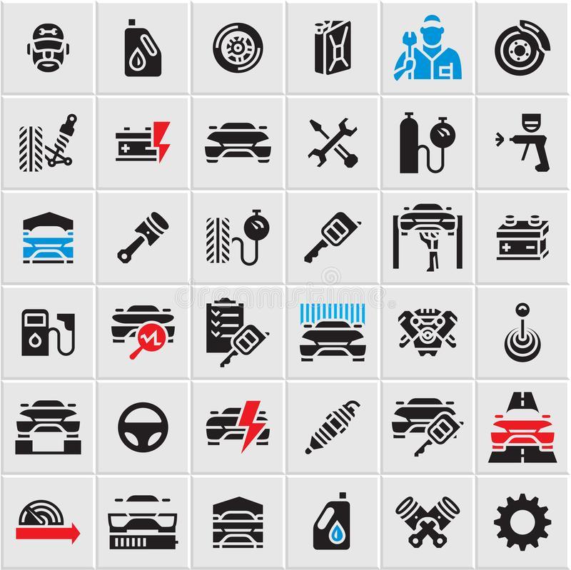Auto Parts Stock Illustrations.