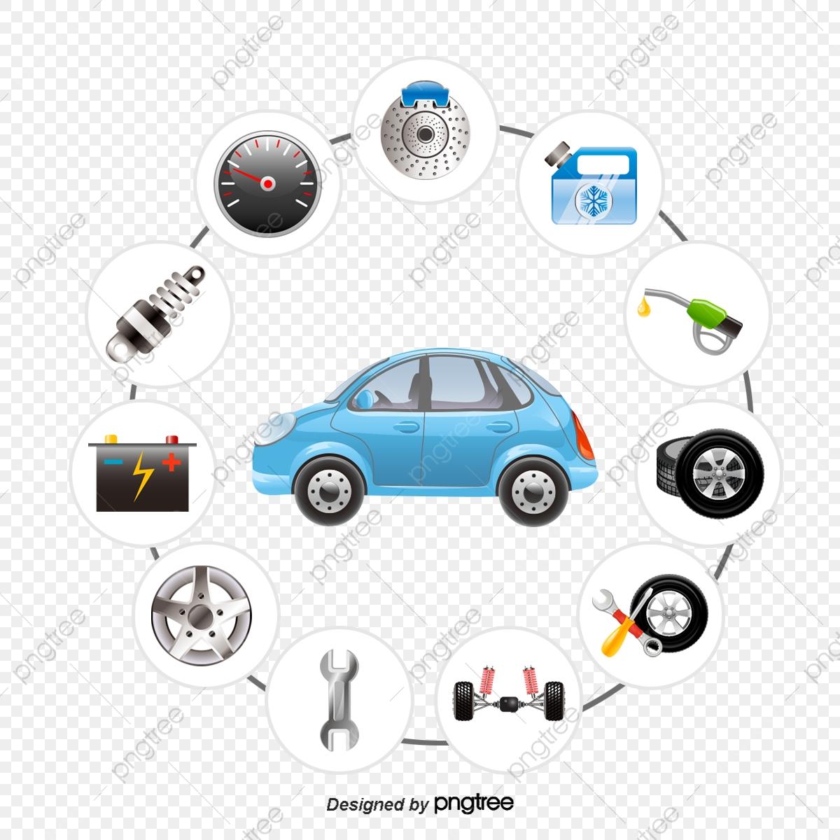 Vector Cars And Auto Parts, Vector Diagram, Car, Car Parts PNG and.