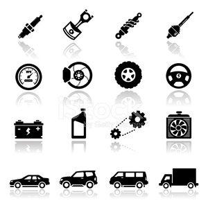 Icons Set Auto Parts premium clipart.