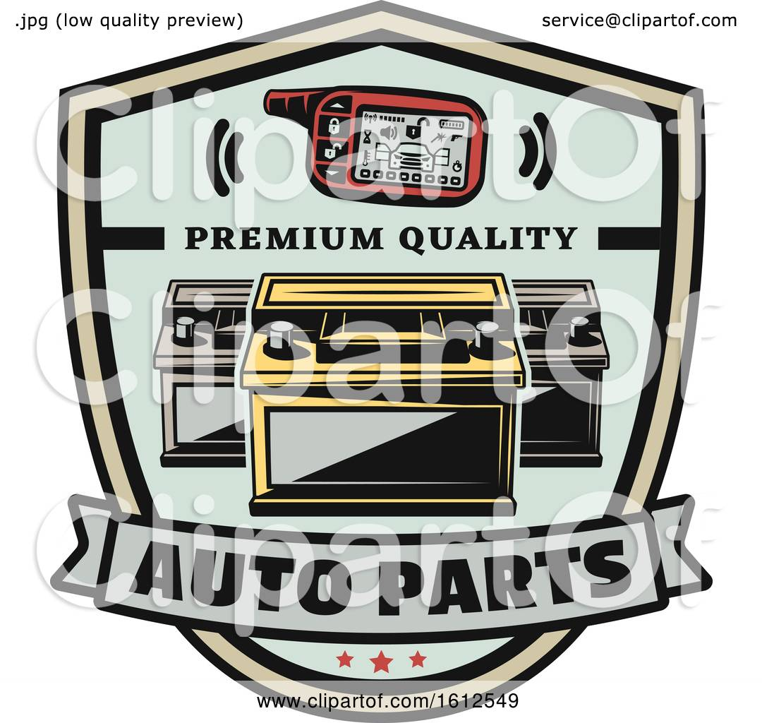 Clipart of a Car Auto Parts Design.