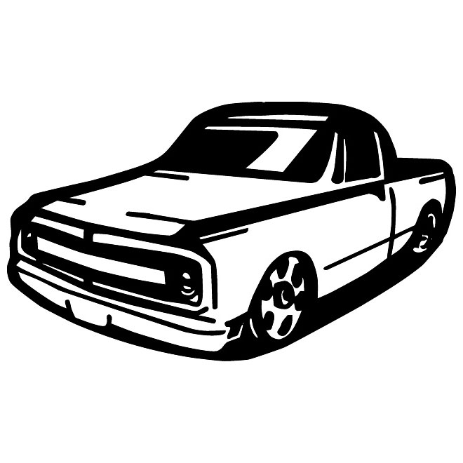 Pickup truck free vector.