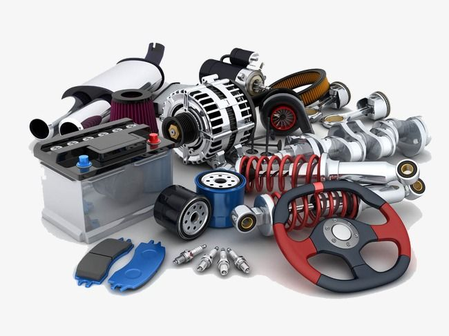 Automotive Engine Parts, Steering Wheel, Exhaust Pipe, Engine PNG.