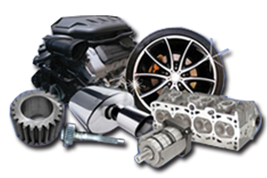 Used Car Parts, Second Hand Car Parts On The Shelf Nexta Day.