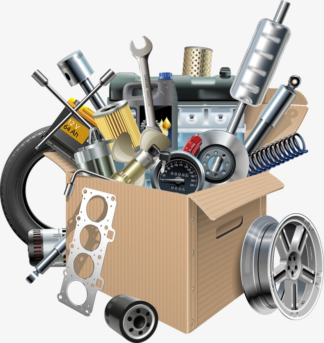 Download Free png Vector Cardboard Boxes And Auto Parts, Carton, Car.
