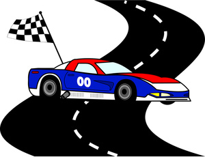 The Auto Racing Pictures: Cartoon Racecar Driver Vector Clip.
