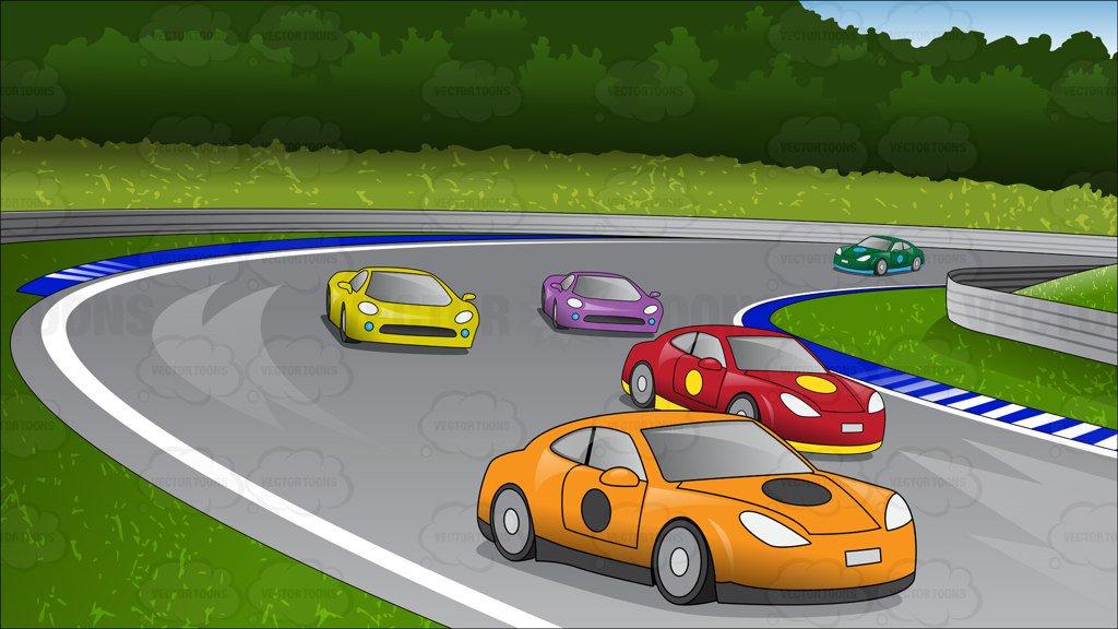 Car Race Clipart.