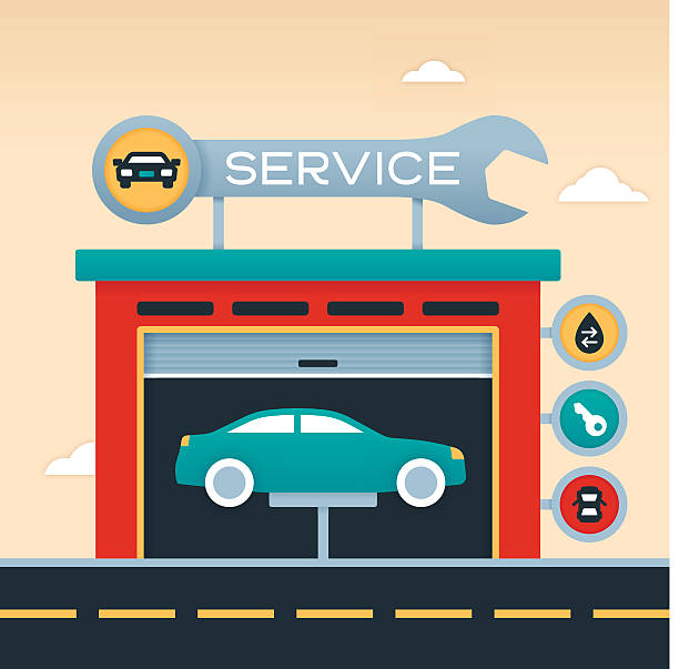 Best Auto Repair Illustrations, Royalty.