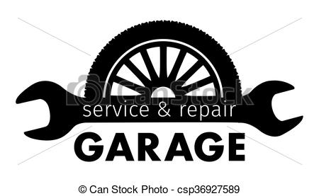 Auto center, garage service and repair logo,Vector Template..