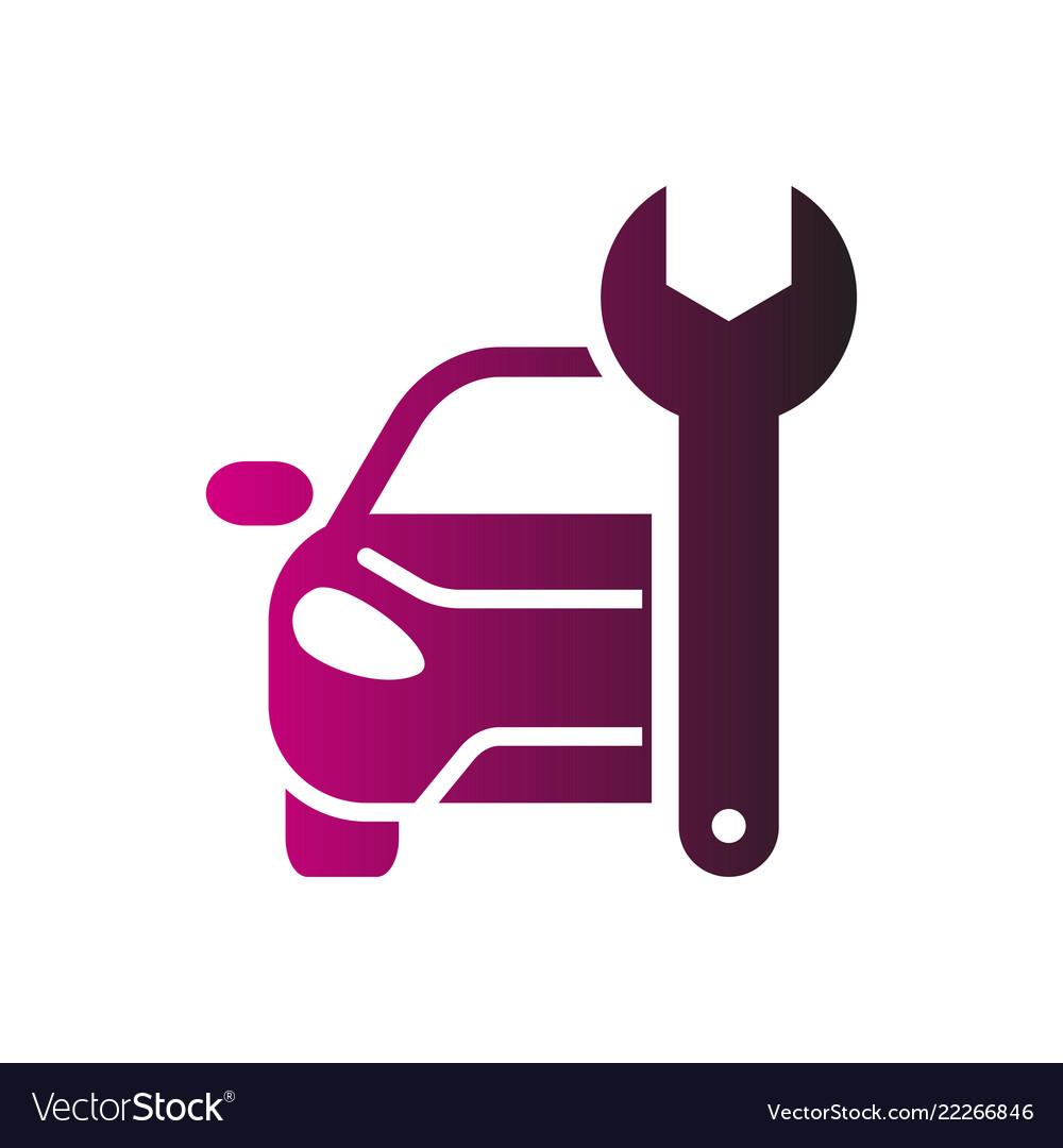 Car repairing logo automotive and.